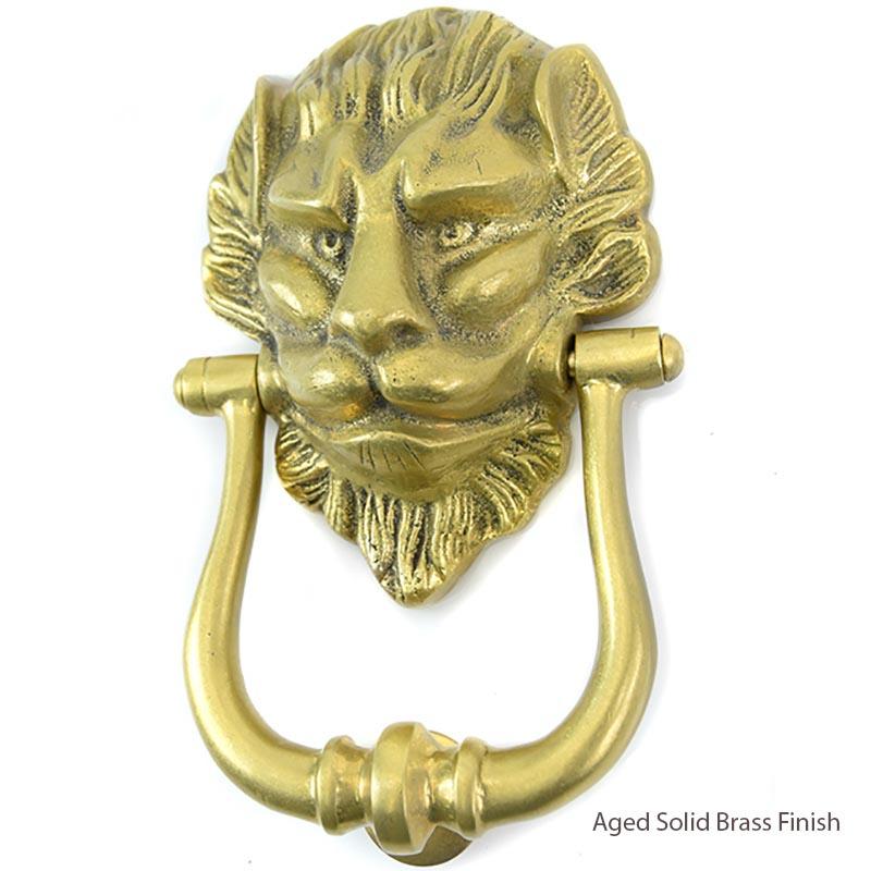 Croft 1768 Deluxe Lions Head Door Knocker