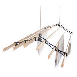 Six Lath Victorian Kitchen Maid� Pulley Clothes Airer | Cast Iron Home and Garden Ware & Traditional Ironmongery