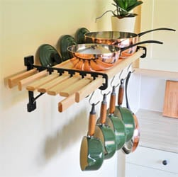 8 Lath Kitchen Shelf Rack