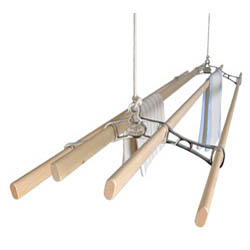 Chrome Victorian Kitchen Maid� Pulley Clothes Airer