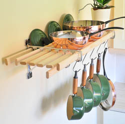 Chrome 8 Lath Kitchen Shelf rack