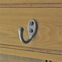 Kirkpatick 1173 Single Loop Coat Hook - Pewter Finish