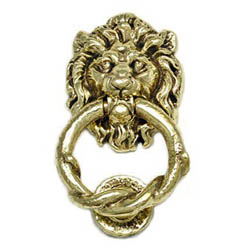 Kirkpatrick 4896 Brass Lion And Rope Door Knocker