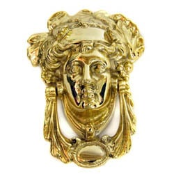Brass Grecian Goddess Door Knocker