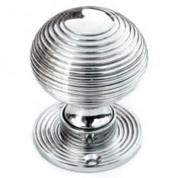 Nickel Beehive Door Knobs