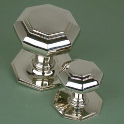 Octagon Brass Centre Door Knob Brass Centre Door Knobs | Brass Door ...