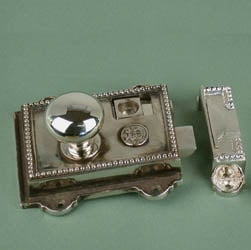 Regency Nickel Rim Latch Set