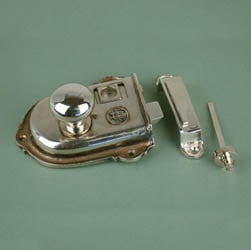 Cromwell Nickel Rim Latch Set