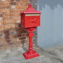 Red Free Standing Post Box