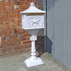 White Free Standing Post Box