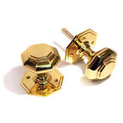 Brass Octagon Door Knobs