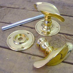 Brass Twist Door Knobs