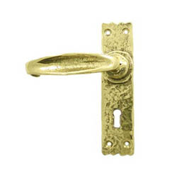 Kirkpatrick 2439 Brass Rustic Lever Door Handle