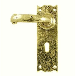 Kirkpatrick 2451 Brass Wide Cratered Lever Door Handle