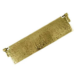 Kirkpatrick 1102 Brass Rustic Internal Letterplate Cover