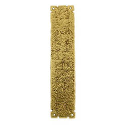 Kirkpatrick 769 Brass Rough Finger Plate