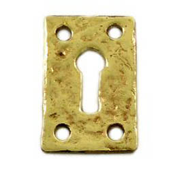 Kirkpatrick 1502 Brass Rectangular Keyhole Escutcheon