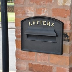 Mayfair Through The Wall Postbox | Cast Iron Home and Garden Ware & Traditional Ironmongery