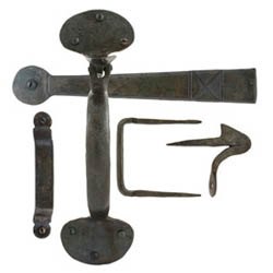 Blacksmith Beeswax Suffolk Thumb Latch with Extra Long Thumb Bar