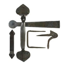 Blacksmith Beeswax Gothic Thumb Latch with Extra Long Thumb Bar