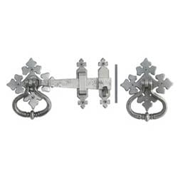 Blacksmith Pewter Patina Shakespeare Latch Set