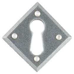 Blacksmith Pewter Patina Diamond Escutcheon