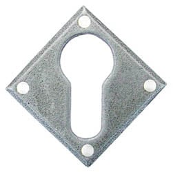 Blacksmith Pewter Patina Diamond Euro Escutcheon