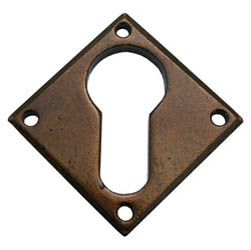 Bronze Blacksmith Diamond Euro Escutcheon