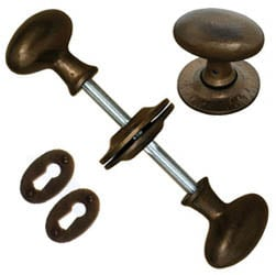Bronze Blacksmith Oval Knob Set