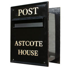 The Victoria Grand Size - Your Own Design - Built in through Wall Letter Box
