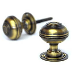 Antique Brass Windsor Door Knobs