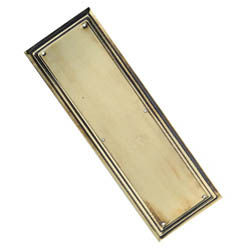 Brass Lincoln Finger Plate