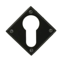 Traditional Blacksmith Diamond Euro Escutcheon
