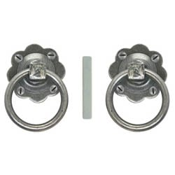 Blacksmith Pewter Patina Ring Handle Set