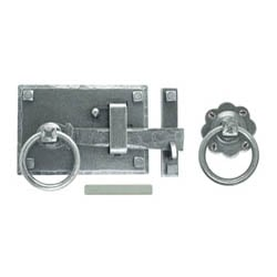 Blacksmith Pewter Patina Cottage Latch Set