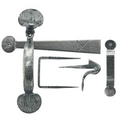 Blacksmith Pewter Patina Bean Thumb Latch
