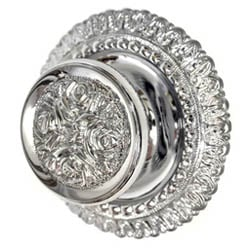 Chrome Rose Centre Door Knob