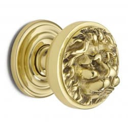 Croft 1734 Lions Head Centre Door Knob