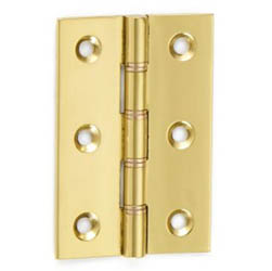 Croft Butt Hinges Polished Brass 3 Inch Double Steel Washered BH3