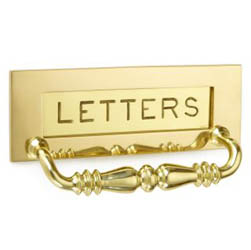 Croft 6358 Engraved Letter Plate with Handle