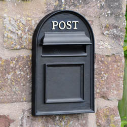 Oxford Through The Wall Post Box | Cast Iron Home and Garden Ware & Traditional Ironmongery