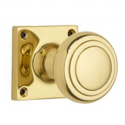 Croft 6348SQ Stepped Cushion Door Knob on a Square Rose