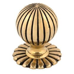 Flower Mortice Knob Set - Brass Finish