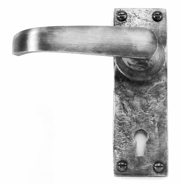 Louis Fraser 345 Lever Door Handle - Pewter Finish