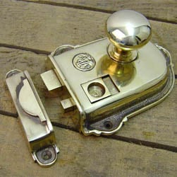 Cromwell Solid  Brass Rim Latch Set