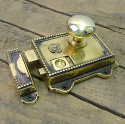 Regency Solid Brass Rim Latch Set