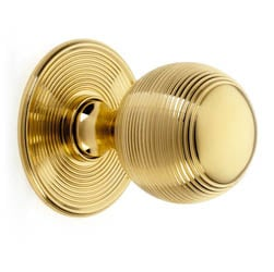 Croft 6407 Reeded Ball Centre Door Knob