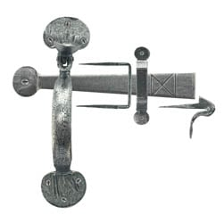 Blacksmith Pewter Patina Bean Thumb Latch with Extra Long Thumb Bar