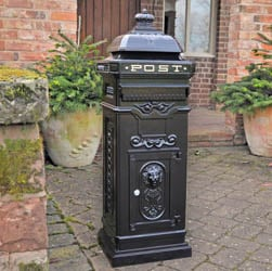 Regent Post Box - Black
