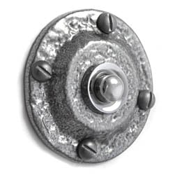 Kirkpatrick 751 Circle Bell Push - Pewter Finish